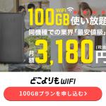 ★大容量100G★業界最安級★月額3,180円★【どこよりもWIFI】