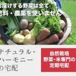 自然栽培野菜とお米の定期宅配 【ナチュラル・ハーモニーの宅配】