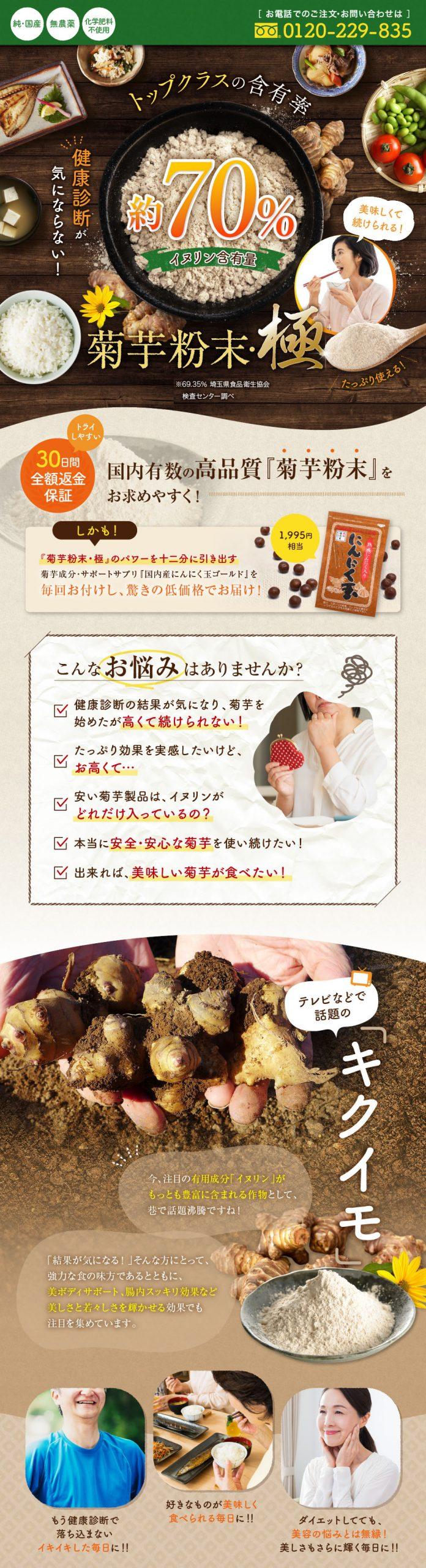 菊芋粉末・極